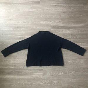 H&M Ribbed Knit Funnel Neck Sweater